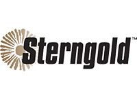 Logo for Sterngold with a golden flower on the left